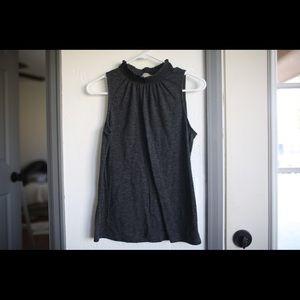 Loft grey high necked shirt